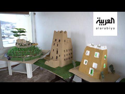 سعودي يبرع في بناء مجسمات البيوت الشعبية في عسير