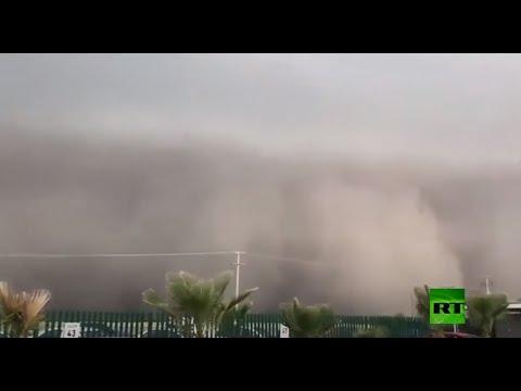 شاهد عاصفة رملية ضخمة تجتاح المكسيك بعد أيام من زلزال عنيف