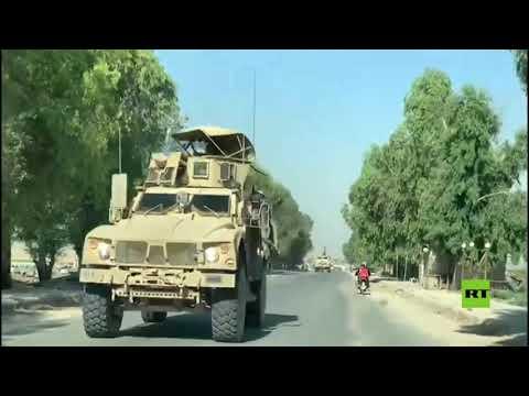 شاهد دورية أميركية تتجول في بلدة تل تمر جنوب غرب الحسكة