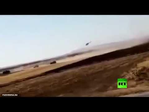 شاهد حادث تصادم بين القوات الروسية والأميركية في سورية