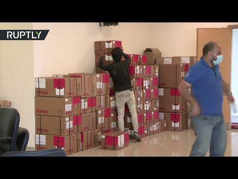 شاهد وصول مساعدات إنسانية روسية إلى 3 مستشفيات حكومية في لبنان